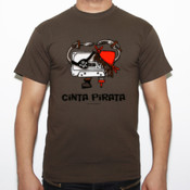 Cinta Pirata - Camiseta Fruit of The Loom  Valueweight
